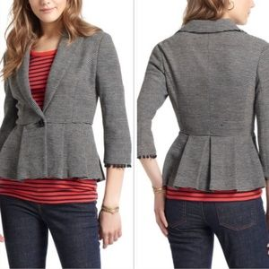 Anthropologie Tabitha Peplum Blazer Small